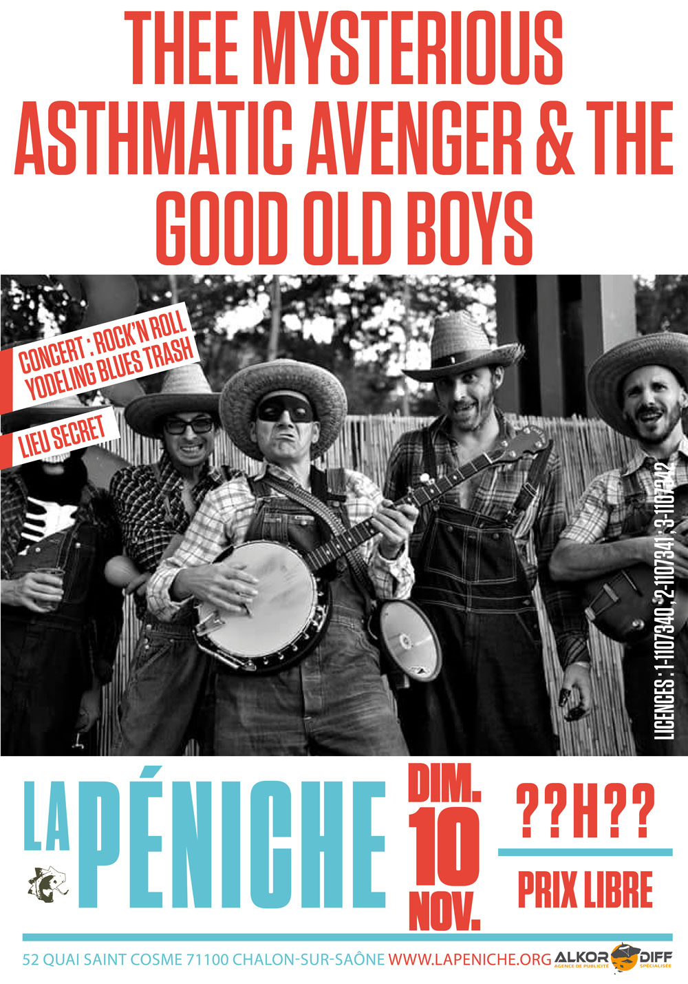 affiche Thee Mysterious Asthmatic Avenger & The Good Old Boys